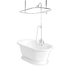 "<strong>American Bath Factory</strong> Nobb Hill 60"" x 32"" AcraStone Double Ended Bathtub"