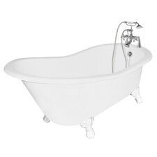 "Wintess 62"" x 31"" Cast Iron Bathtub"