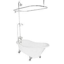 "Wintess 61.5"" x 31"" Cast Iron Bathtub"