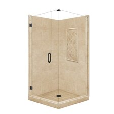 Supreme Neo-Angle Door Front-and-Left Threshold Shower Enclosure