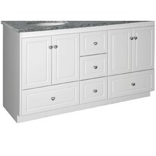 "<strong>Strasser Woodenworks</strong> Simplicity 60"" Double Bowl Bathroom Vanity Base"