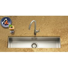 "Contempo 32"" x 8.5"" x 6"" Zero Radius Undermount Trough Bar Sink"