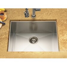 "Contempo 23"" x 18"" Zero Radius Undermount Single Bowl Kitchen Sink"