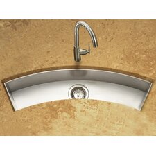 "Contempo 33"" x 11.5"" Zero Radius Undermount Curved Trough Bar Sink"