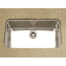 "Medallion Gourmet 32.38"" x 18.88"" Undermount Single Bowl Kitchen Sink"