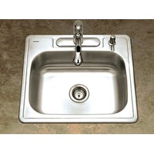 "Glowtone 25"" x 22"" Topmount Single Bowl 20 Gauge Kitchen Sink"
