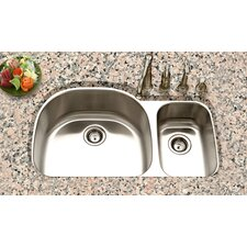"Eston 32.19"" x 20.5"" Undermount 70/30 Double Bowl Kitchen Sink"