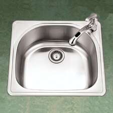 "Premiere Designer 25"" x 22"" Topmount Single Bowl Kitchen Sink"