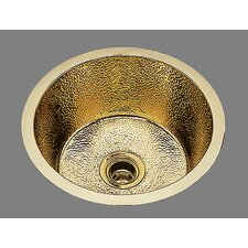 "Sculptured Metals 17.38"" x 17.38"" Hammertone Bar Sink with Clips"