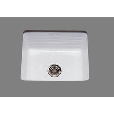 "Ceramics 15"" x 13"" Penny Undermount Bar Sink"