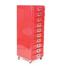 10 Drawer Chest on Wheels