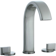 Techno Widespread Bathroom Sink Faucet with Double Lever Handles