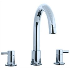 Techno Double Handle Deck Mount Roman Tub Faucet Lever Handle
