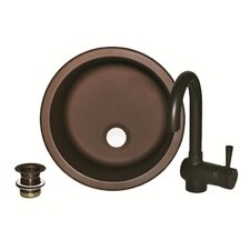 "11.4"" x 11.4"" Sinks To Go Round Bar Sink Set"