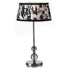 Nickel Rose Table Lamp