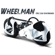 Wheelman 50cc Gas Skateboard in White