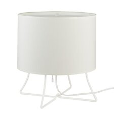 "Virgil Low 13"" H Table Lamp with Drum Shade"