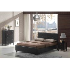 Kyoto 4 Piece Bedroom Set in PU Cappuccino Bed