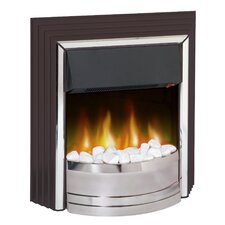 Zamora Freestanding Electric Fire in Black