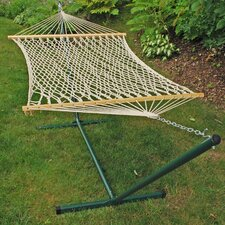 <strong>Algoma Net Company</strong> Rope Hammock and Stand Set
