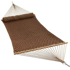 Woven Quilted Hammock with Pillow