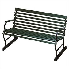 Traditional Wood and Metal Garden Bench