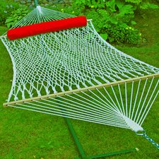 <strong>Algoma Net Company</strong> Cotton Rope Hammock with Bolster Pillow