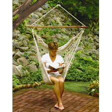 <strong>Algoma Net Company</strong> Hanging Cotton Rope Hammock Chair