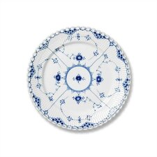 "Blue Fluted Full Lace 7.5"" Salad / Dessert Plate"
