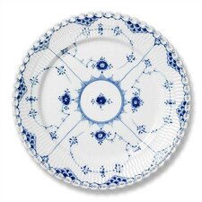 """Blue Fluted Full Lace 10.75"""" Dinner Plate"""