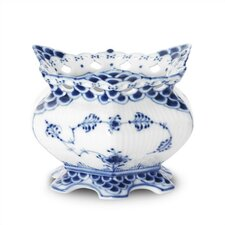 Blue Fluted Full Lace 7 oz. Sugar Bowl