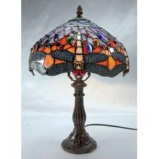 Orange Dragonfly Leadlight Table Lamp