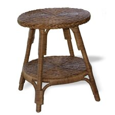 Classic Wicker Side Table