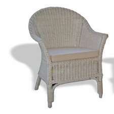 <strong>Three Birds Casual</strong> Classic Wicker Arm Chair
