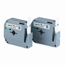 P-Touch M Series Tape Cartridge for P-Touch Labelers, 2/Pack