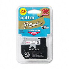P-Touch M Series Tape Cartridge for P-Touch Labelers, 1/2W