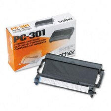PC301 Fax Thermal Print Ribbon Cartridge, Black