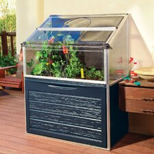 Plant Inn Compact Raised Aluminum Garden Bed Greenhouse