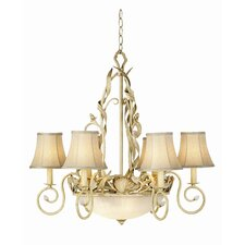 Gallery 6 Light Sandy Beach Chandelier
