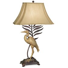"""Gallery Whispering Palm 33"""" H Table Lamp with Bell Shade"""