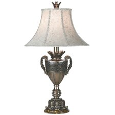 """First Lady Kathy Ireland State Room 32.5"""" H Table Lamp with Bell Shade"""