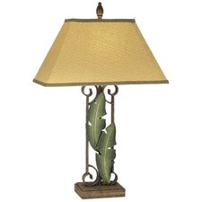 "PCL Banana Leaves 31"" H Table Lamp with Rectangle Shade"