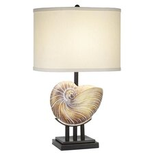 "PCL Kaanapali Seashell 27"" H Table Lamp with Drum Shade"