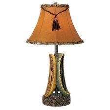 "PCL Old River Canoe 27"" H Table Lamp with Bell Shade"