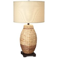 "PCL Seagrass Urn 31"" H Table Lamp with Drum Shade"