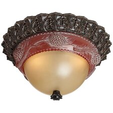 Pine Cone Glow 1 Light Flush Mount