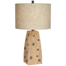 """PCL West Post 30.5"""" H Table Lamp with Drum Shade"""
