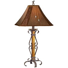 """PCL El Paso 34"""" H Table Lamp with Bell Shade"""