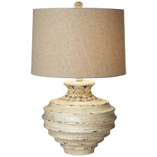 "PCL Ocean Crown 28.62"" H Table Lamp with Drum Shade"
