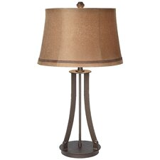"PCL Montana Arch 31"" H Table Lamp with Bell Shade"